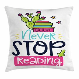 image-Kaydee Book Vivid Cactus and Stars Cushion Cover Ebern Designs