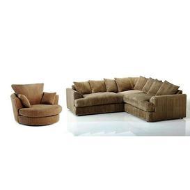 image-4 Piece Sofa Set Brayden Studio Upholstery Colour: Coffee