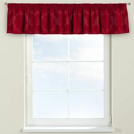 image-Damasco Curtain Pelmet Dekoria Size: 390cm W x 40cm L, Colour: Red