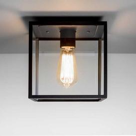 image-Astro 1354001 Box Outdoor Porch Light in Black Finish