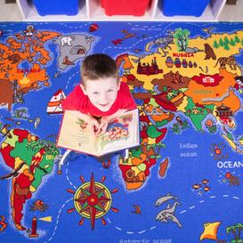 image-Kids Educational World Map Rug