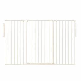 image-Janvey Extra Tall 3 Panel Room Divider Symple Stuff Colour: White, Size: 105cm H x 164cm W x 4cm D