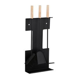 image-Madyson 4 Piece Steel Fireplace Tool Set Belfry Heating