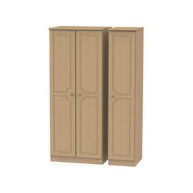 image-Pembroke 3 Door Triple Plain Wardrobe - Light Oak