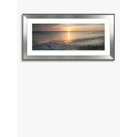 image-Mike Shepherd - Ebb & Flow Embellished Framed Print & Mount, 55 x 110cm, Orange/Multi