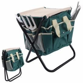 image-Garden Tool Bag Seat Set with Folding Storage Stool Symple Stuff