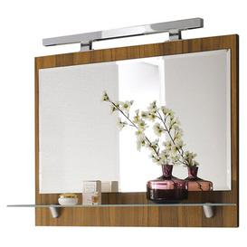 image-Mirror Belfry Bathroom Finish: Walnut, Size: 68cm H x 90cm W x 20cm D