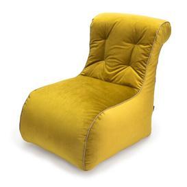 image-Luxury Scroll Style Velvet Bean Bag Lounger Ebern Designs