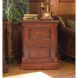 image-La Roque Mahogany Filing Cabinet - 2 Drawer - Baumhaus