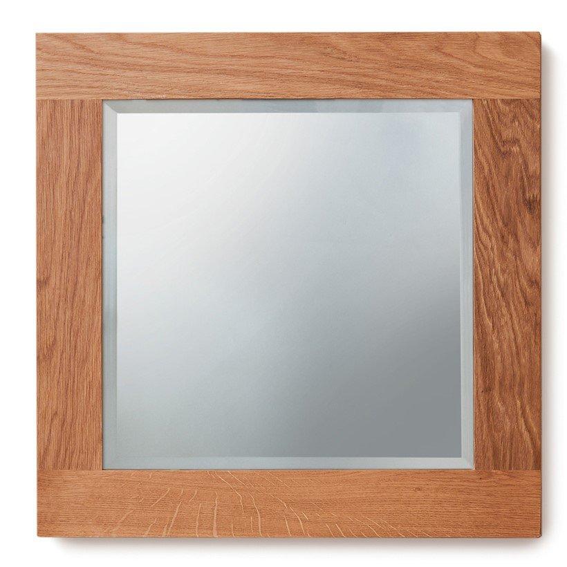 image-Mobel Oak Bathroom Furniture Small Wall Mirror