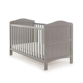 image-Whitby Cot Bed with Mattress Obaby Colour: Grey
