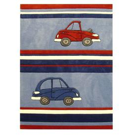 image-Kids Cars Hand Tufted Blue Rug Bakero