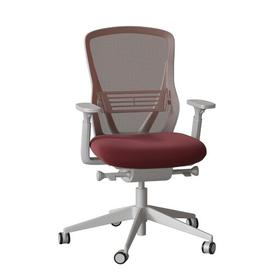 image-Dalton Ergonomic Mesh Task Chair Senator Frame Colour: Light Grey, Back Colour: Snow, Upholstery Colour: Momentum Origin Garnet