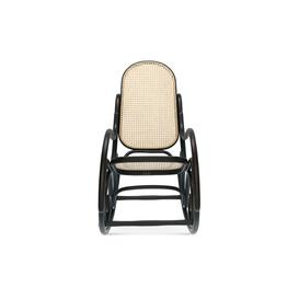 image-Robin Cane Bentwood Rocking Chair, Black Stain