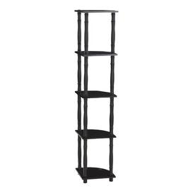 image-5 Tier Corner Bookcase Wayfair BasicsΓäó Colour: Bamboo Tube