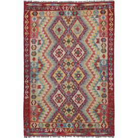 image-Dameron Traditional Handmade Kilim Wool Red Rug Bloomsbury Market
