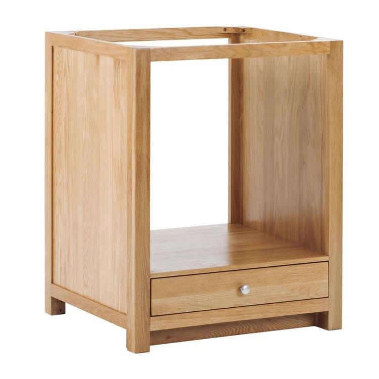 image-Handmade Oak Kitchens Furniture Slim Drawer Oven Cabinet