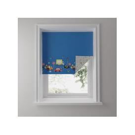 image-Transport Blue Reversible Blackout Roller Blind Blue