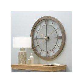 image-Hamilton Wall Clock - Natural Wood