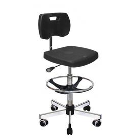 image-Mcmillin Draughtsman Chair Ebern Designs Colour: Black