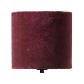 image-Papillon Pleated Silk and Velvet Lampshade - Burgundy (size: Small)