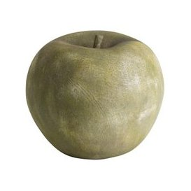 image-Hill Large Pear Outdoor Aged Stone Ornament