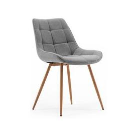 image-Primo Fabric Dining Chair In Grey With Sonoma Oak Legs