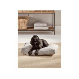 image-Herringbone Wool Dog Bed - Grey