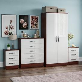 image-Joselyn 4 Piece Bedroom Set Zipcode Design Colour: Walnut & White