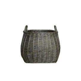 image-Grey Willow Belly Basket Grey