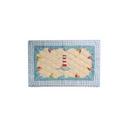 image-Beach House Small Floor Quilt by Win Green