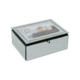 image-Diamond Crush Silver Jewellery Box