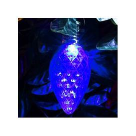 image-Bright Garden Solar Pinecone Bulb Light - Blue