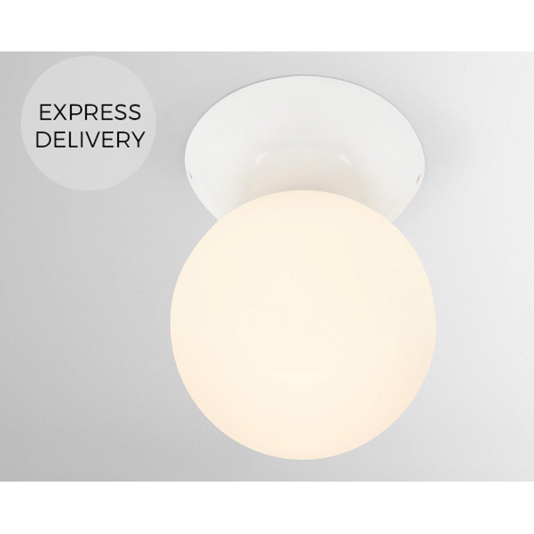 image-Vetro Bathroom Large Ceiling Light, White