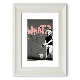 image-'What Kid' Framed Graphic Art East Urban Home Size: 70 cm H x 50 cm W, Frame Options: Matte White