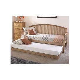 image-Madrid Wooden Single Day Bed With Guest Bed In Natural Oak