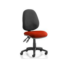 image-Luna II Black Back Office Chair In Tabasco Red
