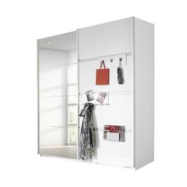 image-Steinheim 2-Door Sliding Door Wardrobe Rauch Finish: White
