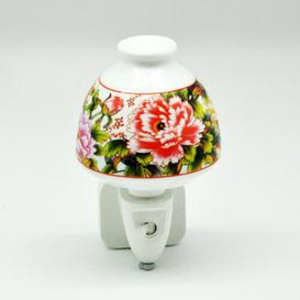 image-Hedgerow Rose Ceramic Night Light Lily Manor
