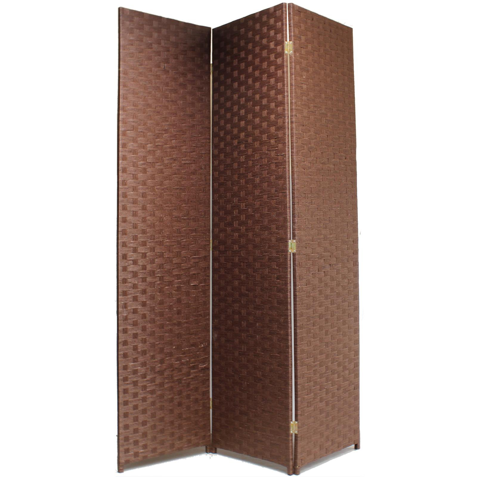 image-Hartleys Hand Made Solid Room Divider - Brown - 3 Panel