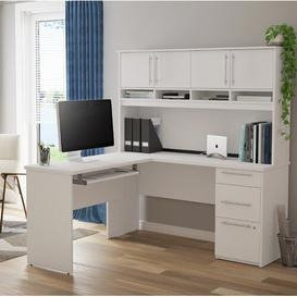 image-Altha L-Shape Executive Desk Ebern Designs Colour: White