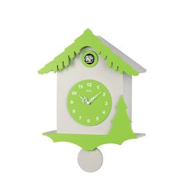 image-Cuckoo Wall Clock AMS Uhrenfabrik Colour: White and green lacquered finish