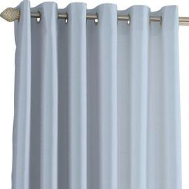 image-Hornellsville Faux Silk Eyelet Curtains Wayfair BasicsΓäó Size per Panel: 117 W x 137 D cm, Colour: Duck Egg Blue