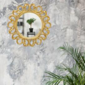image-Eskridge Wall Mirror Lily Manor Finish: Gold