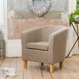 image-Woodside Tub Chair Marlow Home Co. Upholstery Colour: Light Brown