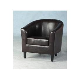 image-Tempo Tub Chair In Expresso Brown
