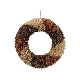 image-Libra Textured Large Orange Wreath - Xmas-18