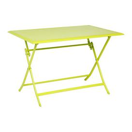 image-Telemanus Folding Aluminium Bistro Table Sol 72 Outdoor Colour: Green, Size: 71cm H x 71cm W x 110cm D