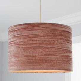 image-Lulu Crushed Velvet 30cm Drum Pink Shade Dusty Pink