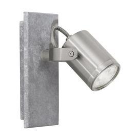 image-Eglo 95741 Praceta 1 Light Wall Spotlight In Matt Nickel And Grey
